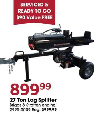 27 Ton Log Splitter image